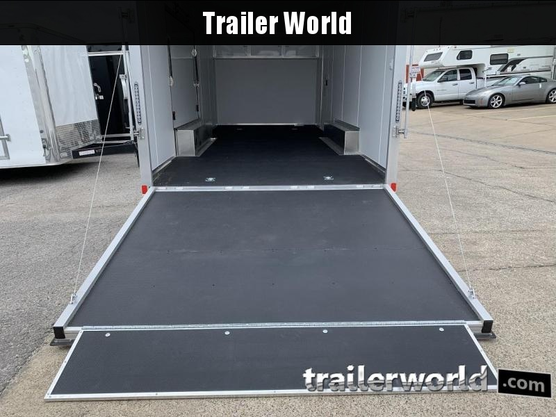 2020 Bravo Star 22' Aluminum Enclosed Car Trailer Spread Axles