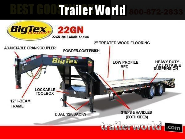 2019 Big Tex Trailers 22GN-35' + 5'  Equipment Trailer MEGA Ramps
