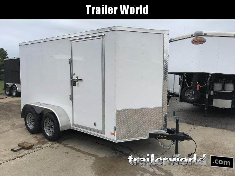 2019 CW 6' x 12' x 6.5 Tandem Cargo V-Nose Double Doors Trailer