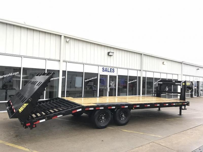 2019 Big Tex Gooseneck 14GN-20' + 5' Flatbed MEGA Ramps Equipment Trailer