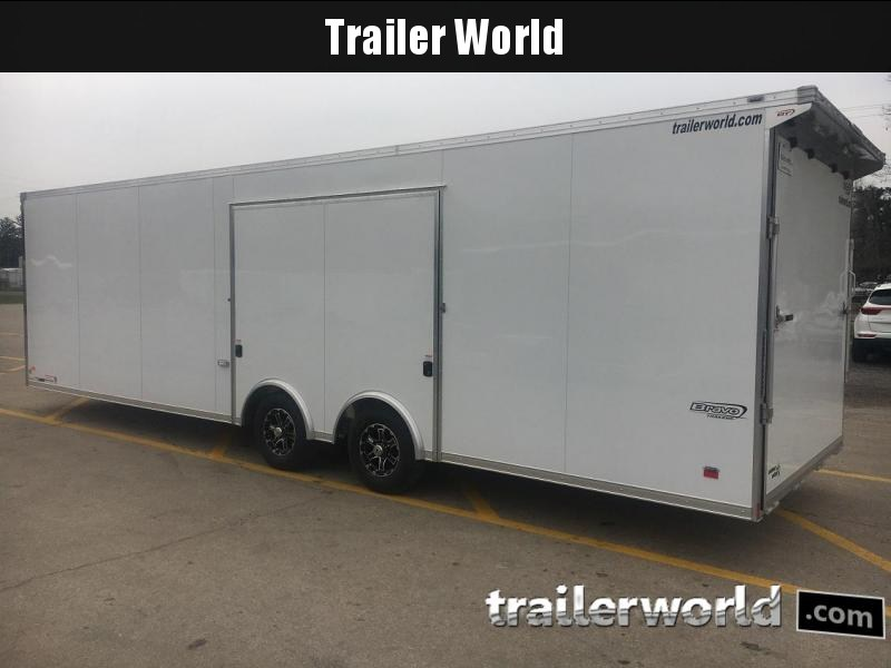 2020 Bravo Star 28' Aluminum Enclosed Car Trailer w Full Access Door