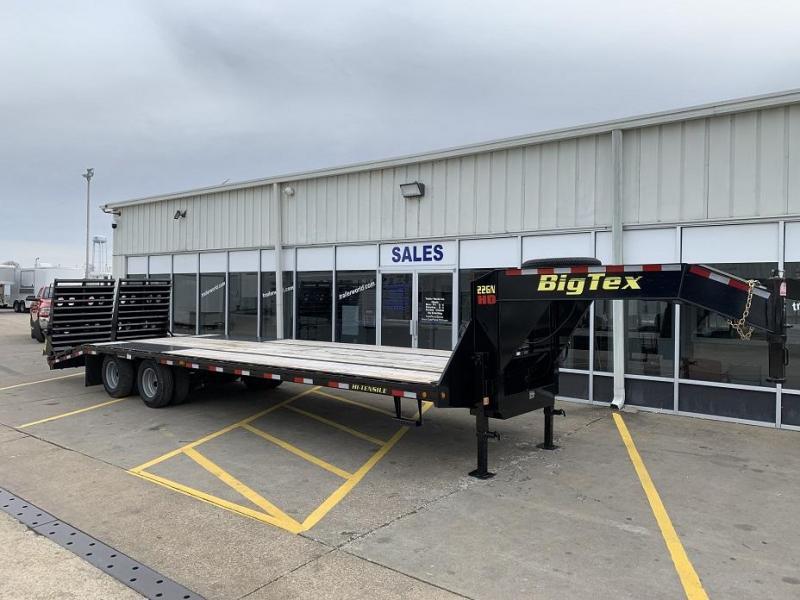 2018 Big Tex Trailers 22GN-25' + 5' Flatbed MEGA Ramps Equipment Trailers