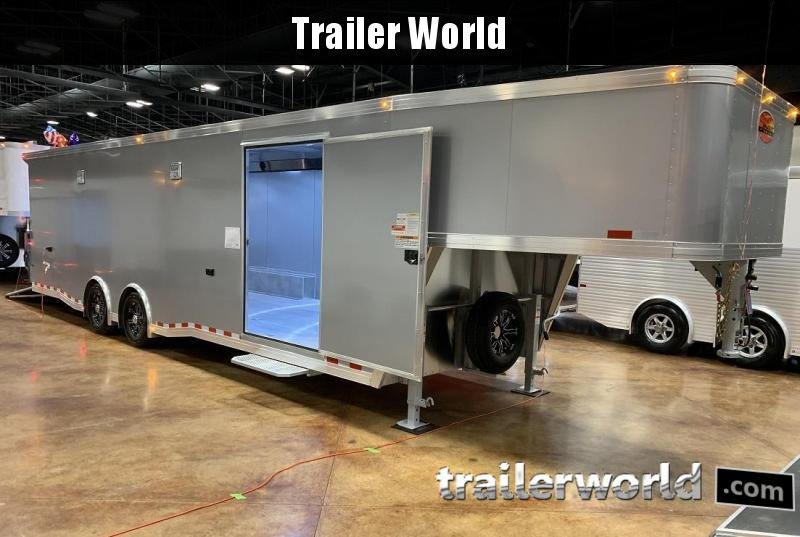 2020 Sundowner 36' Gooseneck Race Model Aluminum Car Trailer