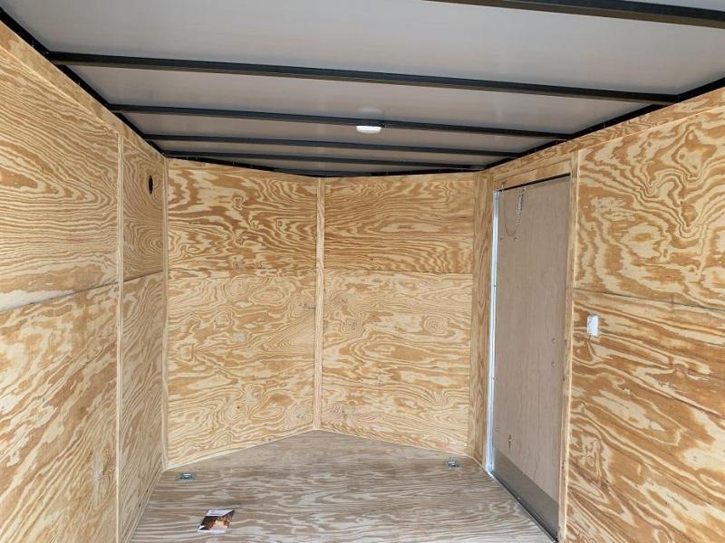 2019 Lark 7' x 12' x 6.5'  Vnose Enclosed Cargo Trailer