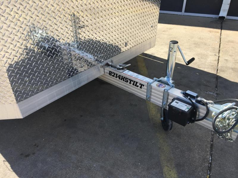 2020 Aluma 8214HS 14' Single Axle Aluminum TILT SLINGSHOT TRAILER