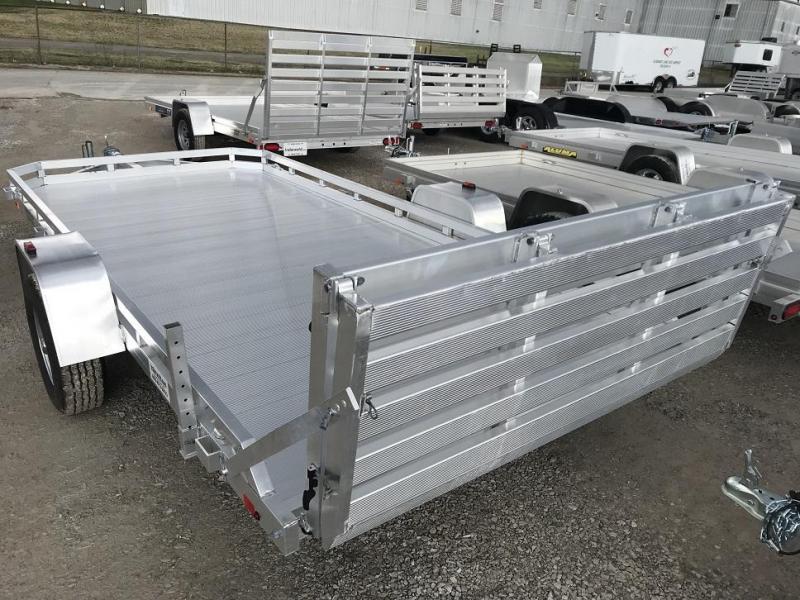 2017 Aluma 7814S 14' Aluminum Utility Trailer Bi-Fold Gate