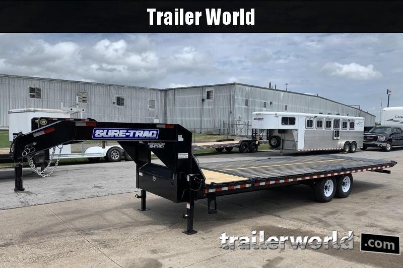 2019 Sure-Trac 8.5' x 22'+4' Deckover Power Tilt Gooseneck 15K GVWR Trailer