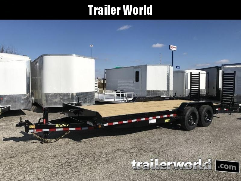 2019 Big Tex NEW MODEL 16ET-20'  Flatbed Equipment Trailer 8 Ton