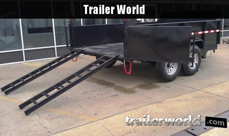2019 QS 12' Dump Trailer 12K GVWR w/ Ramps