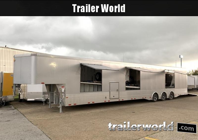 2020 Sundowner 52' Aluminum Enclosed 3 Car Trailer