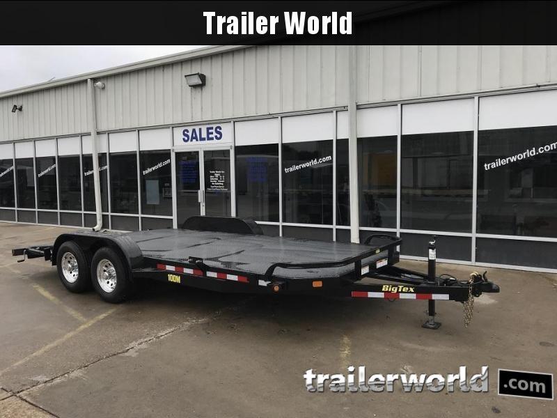 2019 Big Tex 10DM - 18' Steel Deck Open Car Hauler Trailer