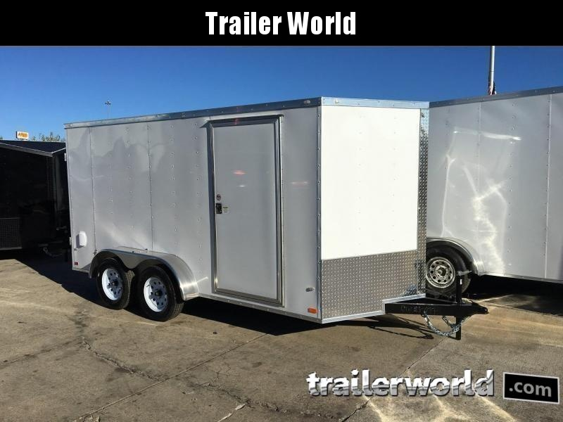 2019 CW 7' x 14' x 6.3' Vnose Enclosed Cargo Trailer Ramp Door