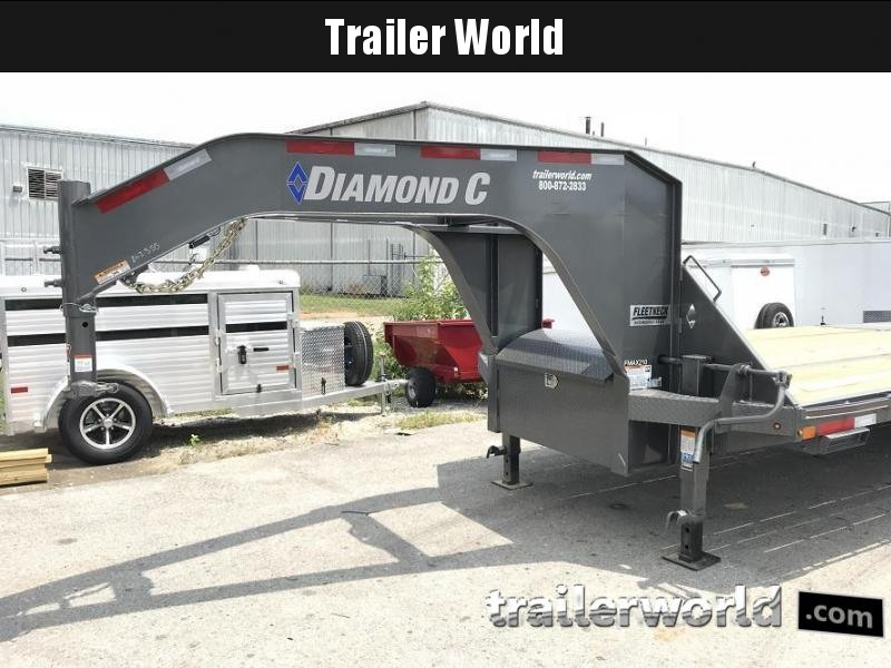 2019 Diamond C FMAX210 35' Gooseneck Flatbed Equipment Trailer 25k GVWR