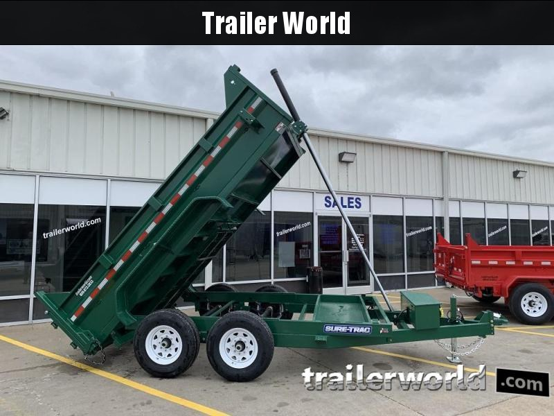 2019 Sure-Trac 12' Dump Trailer 14K GVWR Telescopic Hoist