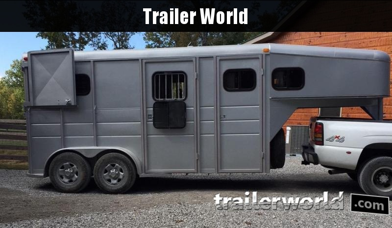 2014 Calico Straight Load Gooseneck 2 Horse Trailer