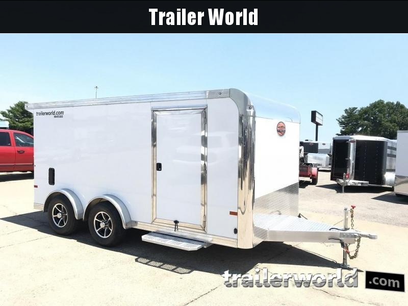 2018 Sundowner  7.5' x 14' Aluminum Enclosed Motorcycle Trailer