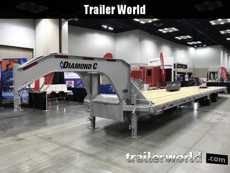 2019 Diamond C FMAX212 40' Gooseneck Flatbed Hot Shot Trailer AIR RIDE