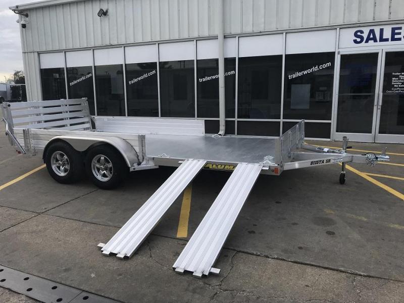 2020 Aluma 8115TA SR 15' Tandem Axle Aluminum Utility ATV Trailer