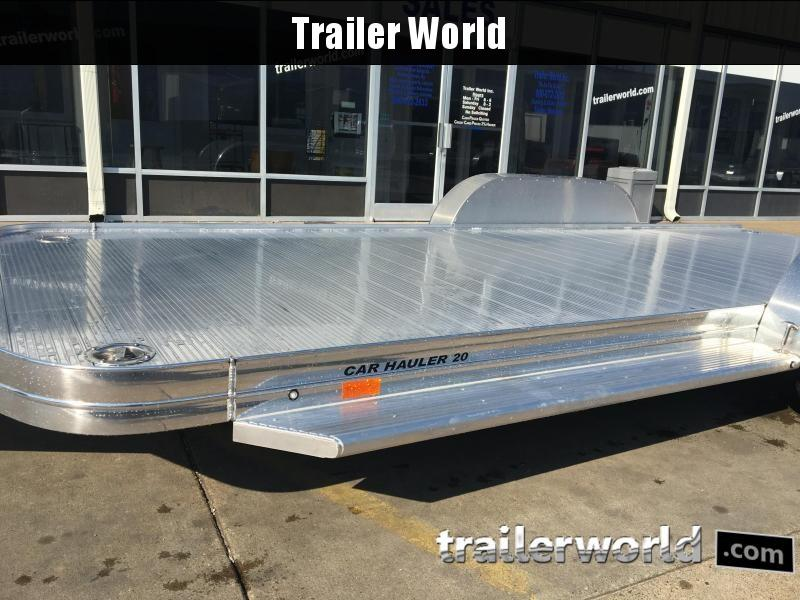 2018 Sundowner 20' Aluminum Tapered Front Open Car Hauler Trailer