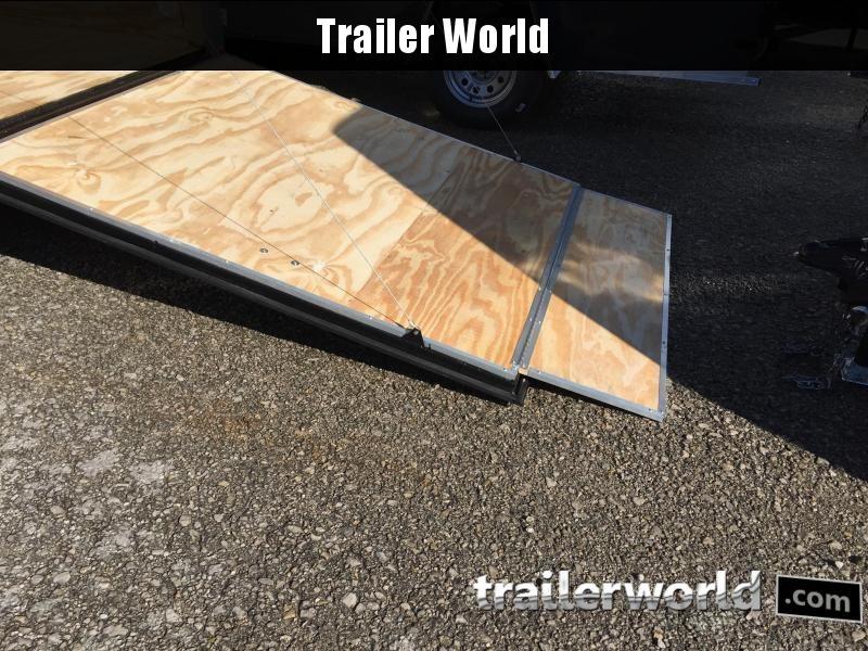 "2019 CW 6' x 12' x 6'3"" Tandem V-Nose Ramp Door Trailer"