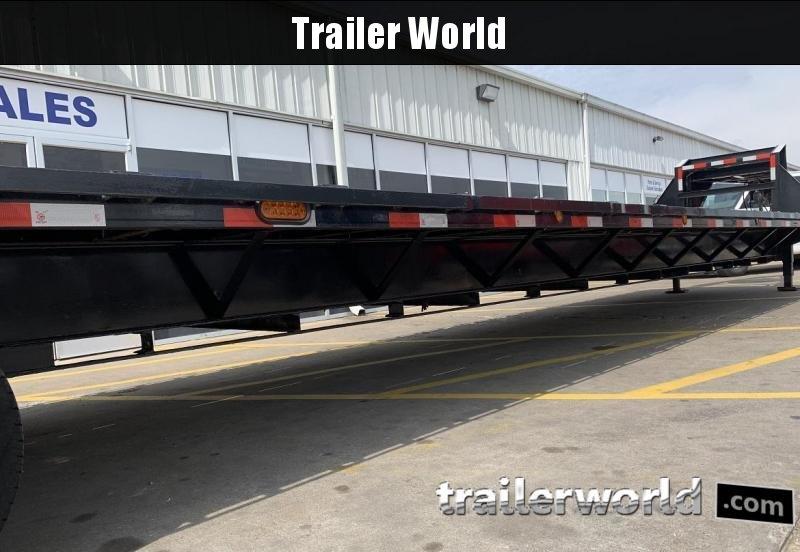 2013 Load Max 44' Gooseneck Flatbed Equipment Trailer