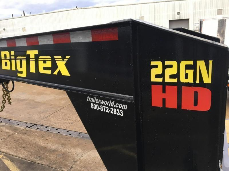 2020 Big Tex Trailers 22GN-20' + 5' Gooseneck Flatbed Trailer MEGA Ramps
