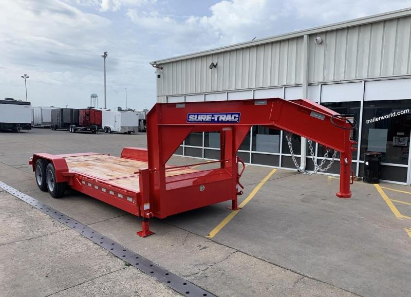 2019 Sure-Trac 16+4  16K GVWR Gooseneck Tilt Equipment Trailer
