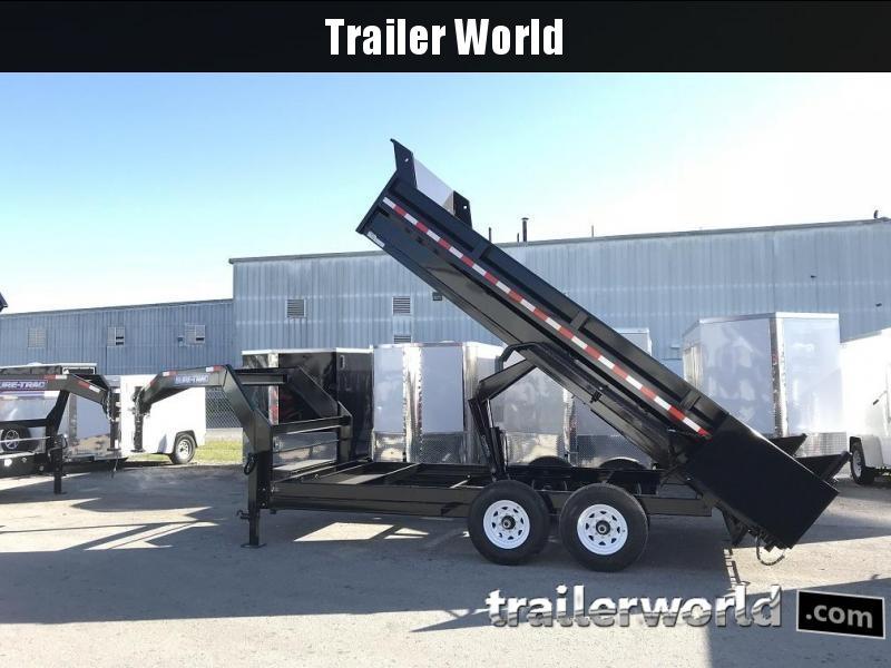 2018 Sure-Trac 16' Gooseneck Dump Trailer 14k GVWR