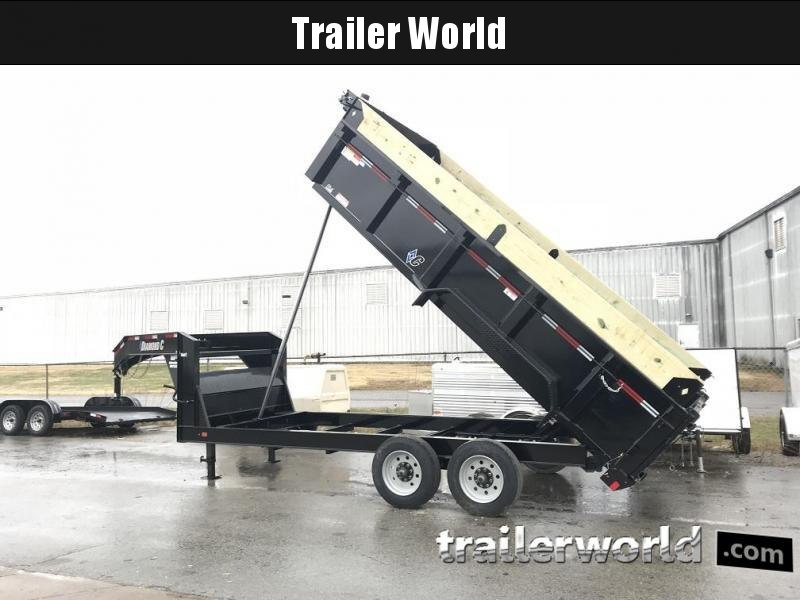 2019 Diamond C LPD 16' SUPER Gooseneck Dump Trailer Low Profile Commercial Grade 20000 GVWR