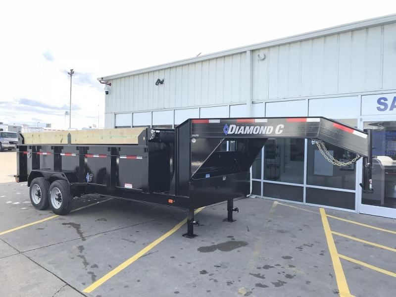 2019 Diamond C LPD 16' SUPER Gooseneck Dump Trailer Low Profile Commercial Grade 20k GVWR