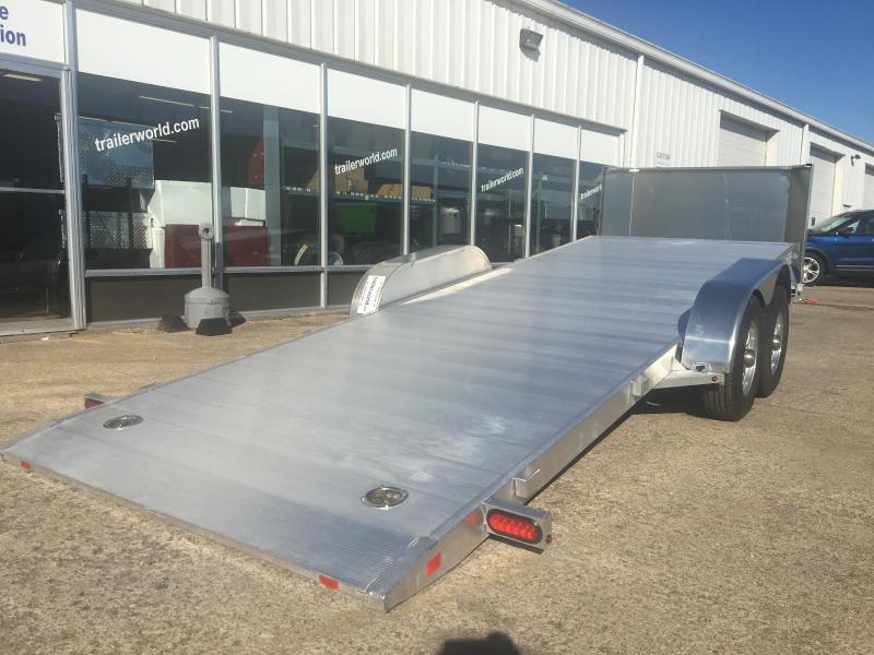 2018 Aluma 8220H 21.5\' Aluminum Tilt Bed Car Hauler Trailer 10k GVWR ...