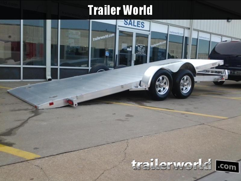 2018 Aluma 8220H 21.5' Aluminum Tilt Bed Car Hauler Trailer 10k GVWR