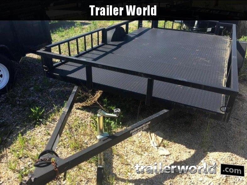 2000 Unknown 7' x 12' Steel Deck Utility Trailer