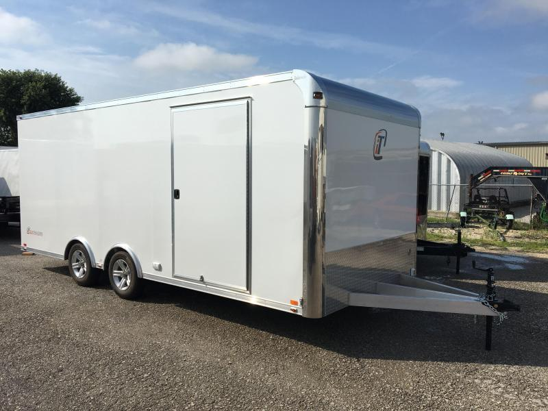 2018 InTech 20 Lite Aluminum Enclosed Car Racing Trailer