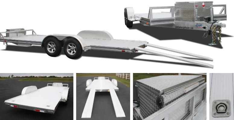 2018 Sundowner 4000AP - 22' Aluminum Open Car Hauler Trailer