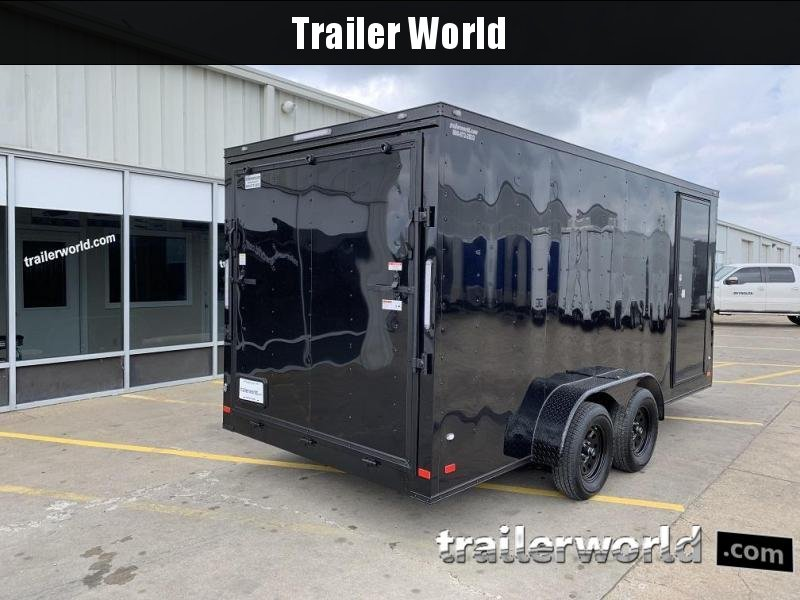2019 CW 7' x 16' x 7' Vnose Enclosed Cargo Trailer BLACK OUT