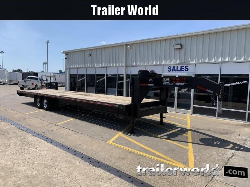 2018 Trailer World 35' Gooseneck Flatbed Equipment Trailer