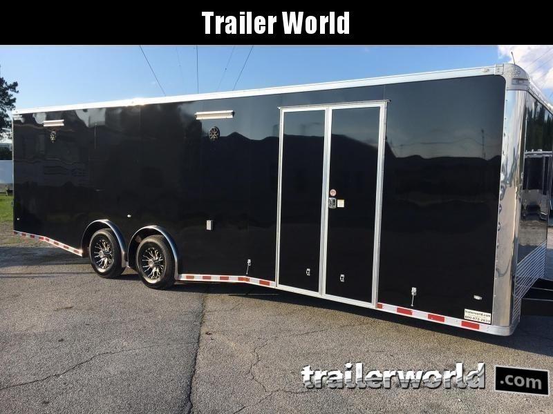 2019 CW 28' Spread Axle Racing Enclosed Car Trailer 14k GVWR