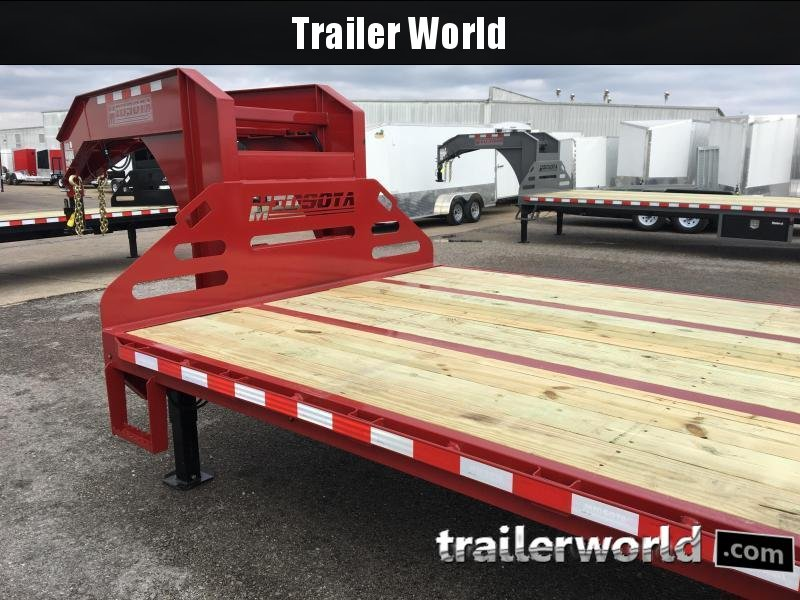 2019 Midsota FBGN 32' Hydraulic Dovetail Flatbed Gooseneck Equipment Trailer