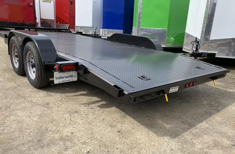 2019 B-B 18 Steel Deck Open Car Flatbed Trailer