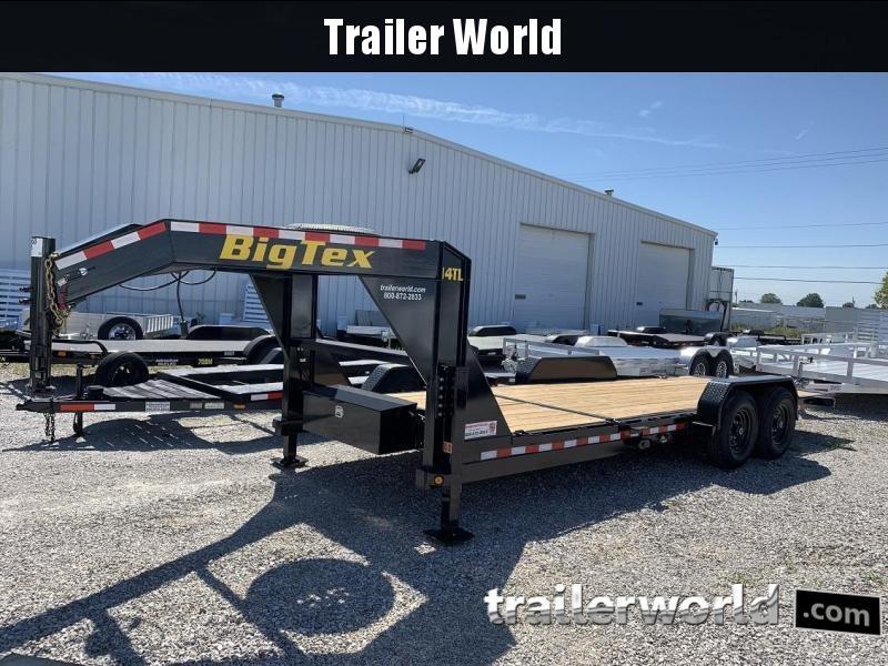 2020 Big Tex 14TL 22' Flatbed Gooseneck 16' Tilt + 6' Equipment Trailer