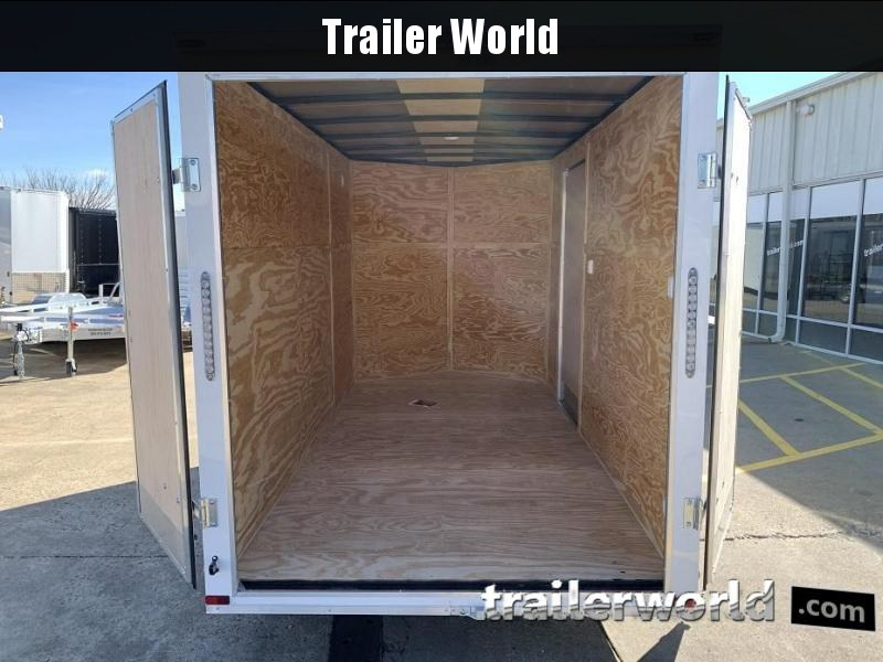"2019 Lark 6' x 12' x 6'6"" Vnose Tandem Enclosed Cargo Trailer"