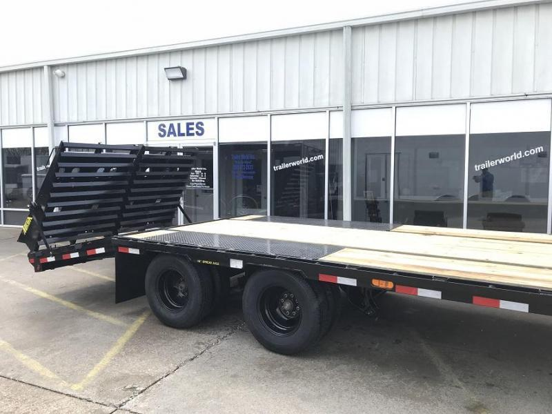 2019 Big Tex Trailers 22GN-25' + 5' Flatbed MEGA Ramps Equipment Trailers