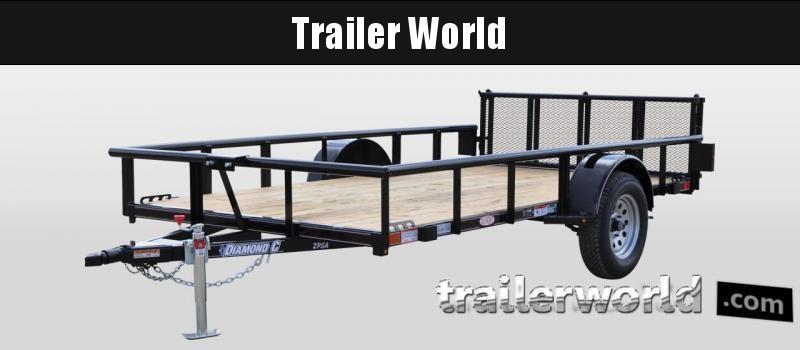 "2018 Diamond C 2PSA 12' x 77"" Utility Trailer"