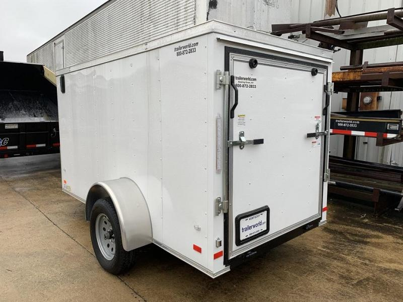 2019 Lark 5' x 10' x 5' Cargo Vnose Ramp Door Trailer
