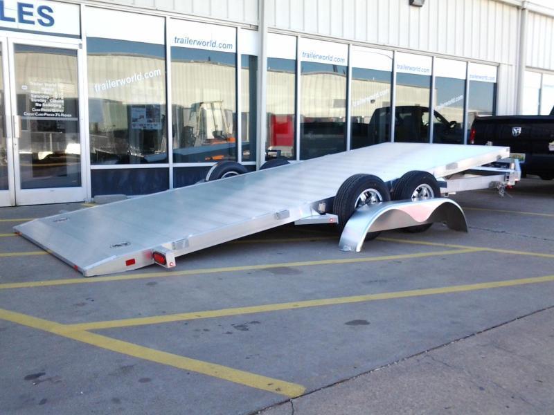 2020 Aluma 8218 Tilt Bed Aluminum Open Car Hauler Trailer  in Ashburn, VA