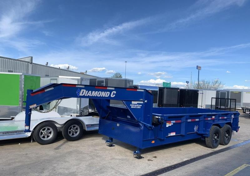 2019 Diamond C LPD 16' Gooseneck Dump Trailer Low Profile Commercial Grade