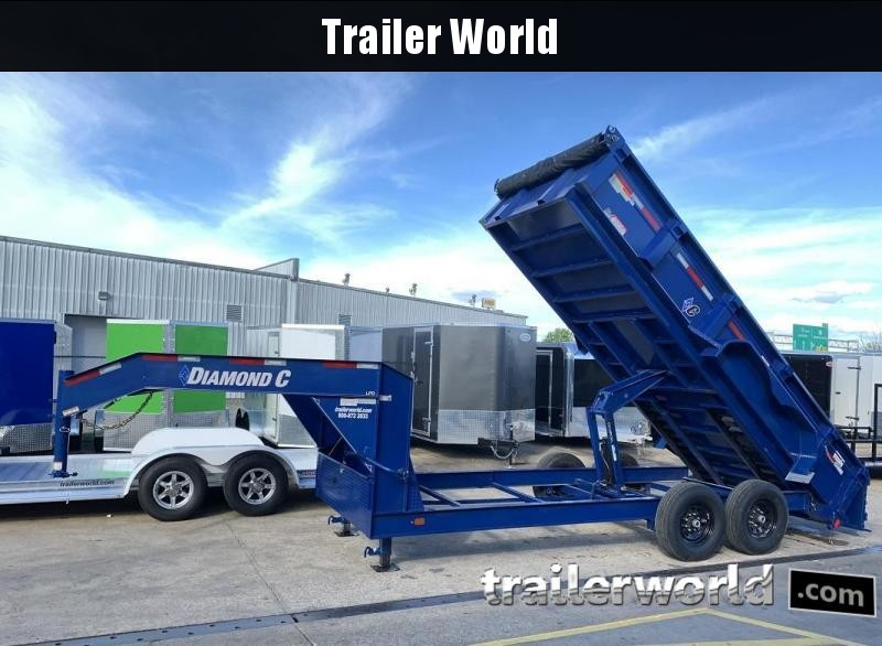 2019 Diamond C LPD 16' Gooseneck Dump Trailer Low Profile Commercial Grade