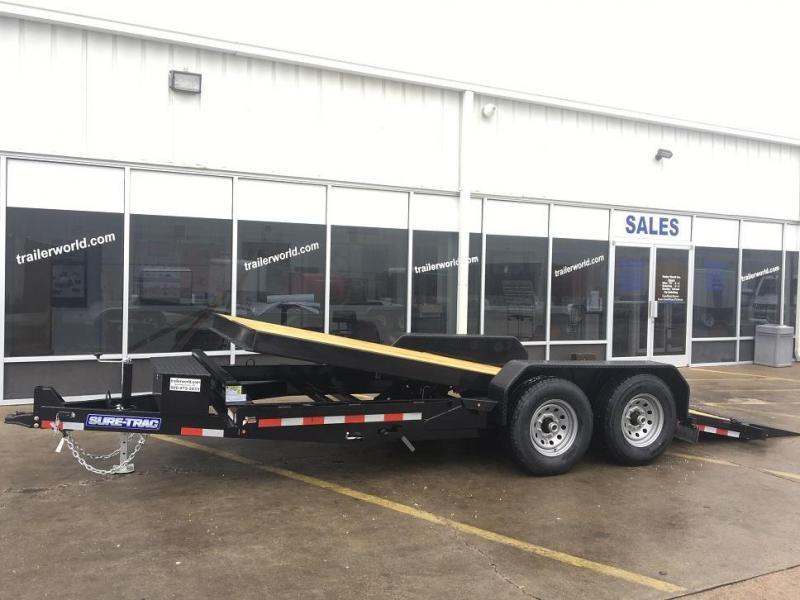2019 Sure-Trac 18' Tilt Bed Equipment OAK Deck 14k GVWR