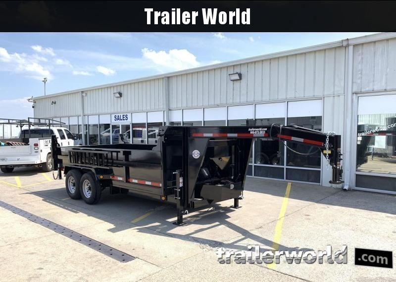 2020 QS 16' Gooseneck Dump Trailer 14K GVWR w/ Tarp